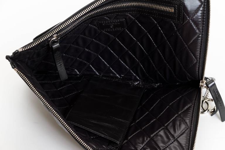 """Chanel Black """"Je Ne Suis Pas En Solde"""" Bag For Sale 2"""
