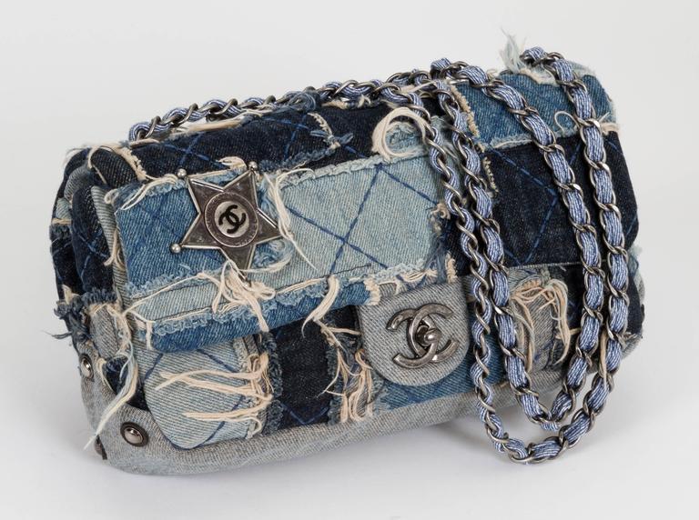 Chanel Denim Dallas Limited Edition Flap Bag 2