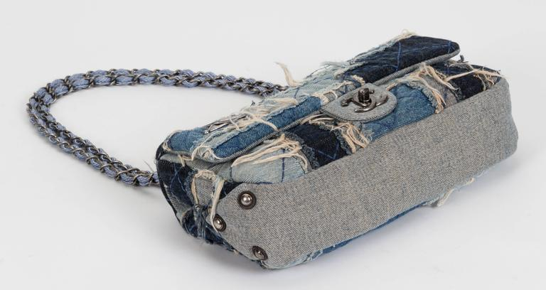 Chanel Denim Dallas Limited Edition Flap Bag In Good Condition For Sale In Los Angeles, CA
