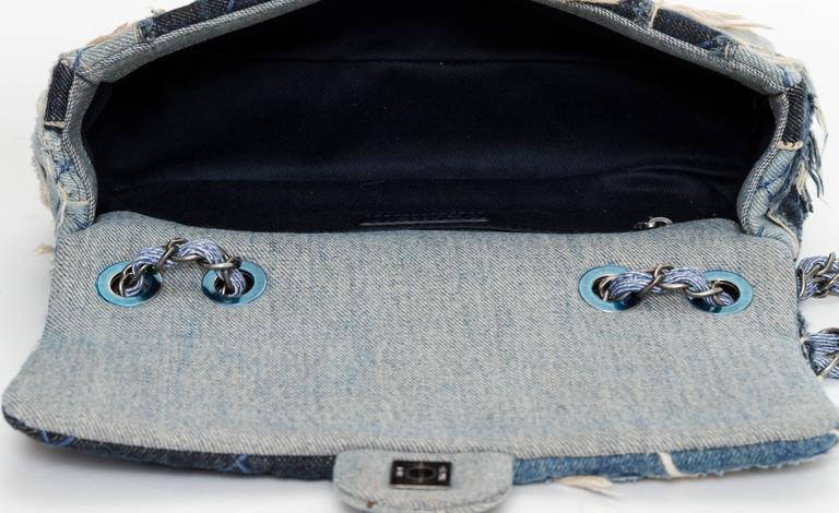 Women's Chanel Denim Dallas Limited Edition Flap Bag For Sale