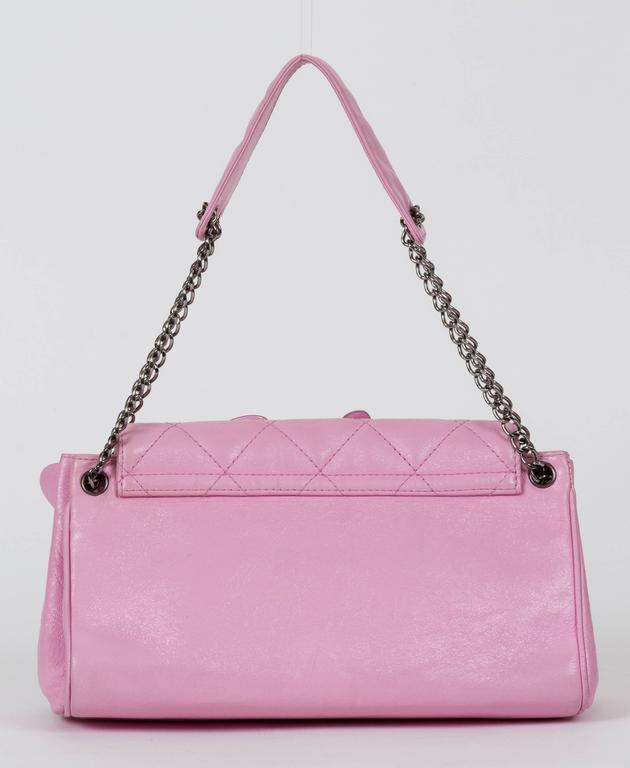 Chanel Pink Accordion Flower Flap Bag At 1stdibs