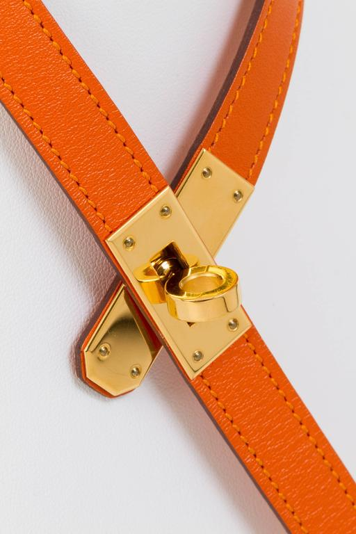 herm s orange and gold kelly necklace at 1stdibs