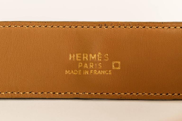 Hermès Crocodile Medor Bracelet For Sale 2
