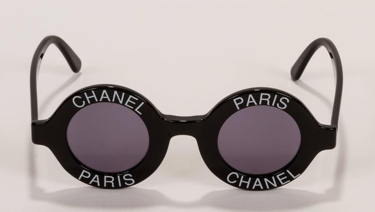 Rare 1980's Chanel Collectible Round Glasses 2