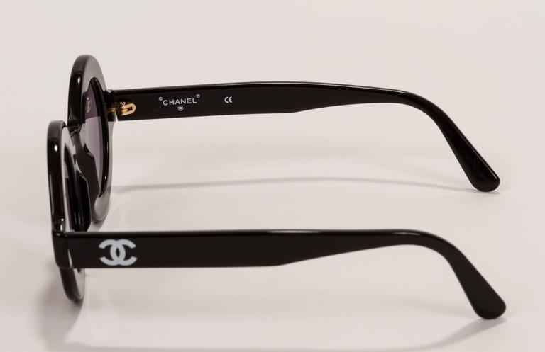 Rare 1980's Chanel Collectible Round Glasses 3