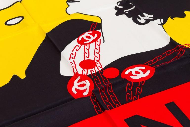 Chanel Coco Pop Art Silk Scarf 3