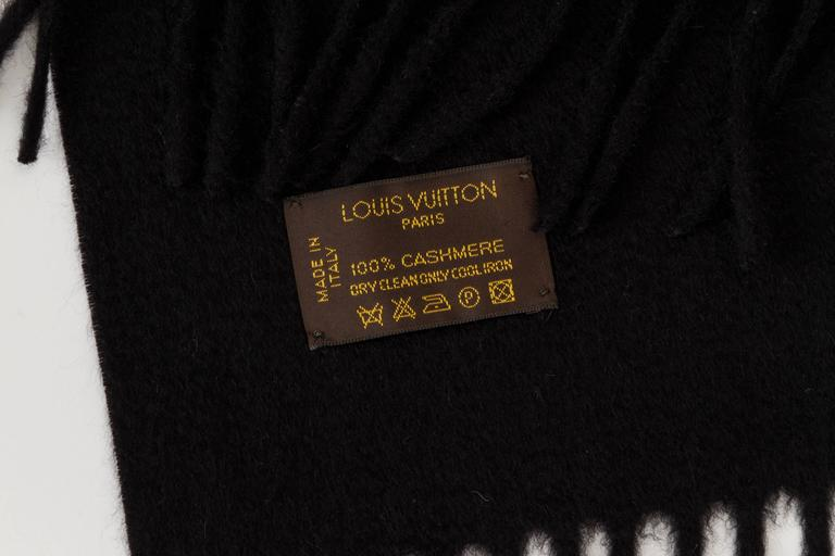 Louis Vuitton Cashmere Black Shawl 3
