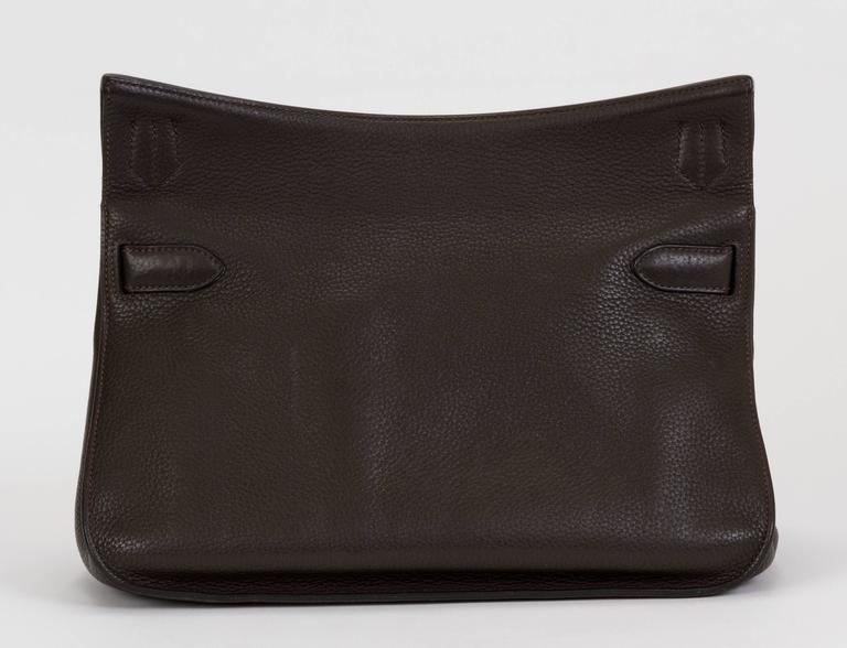 Black Hermès Jypsiere Brown Togo Bag For Sale