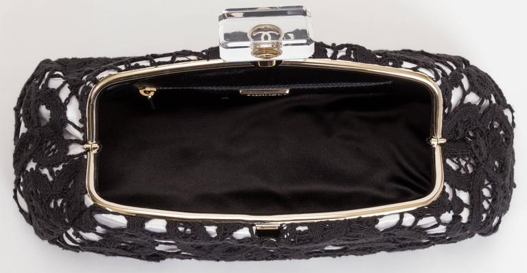 256ac79fe61777 Chanel Limited Edition Large Lace and Lucite Clutch For Sale at 1stdibs