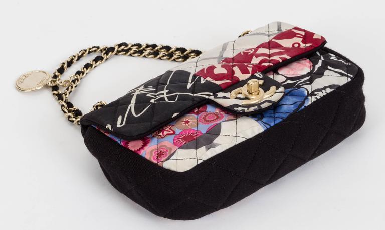 Women's Chanel Patchwork Crossbody Black Flap For Sale