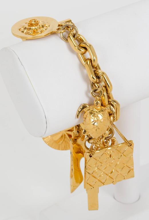1970's Chanel Iconic Charm Bracelet 2
