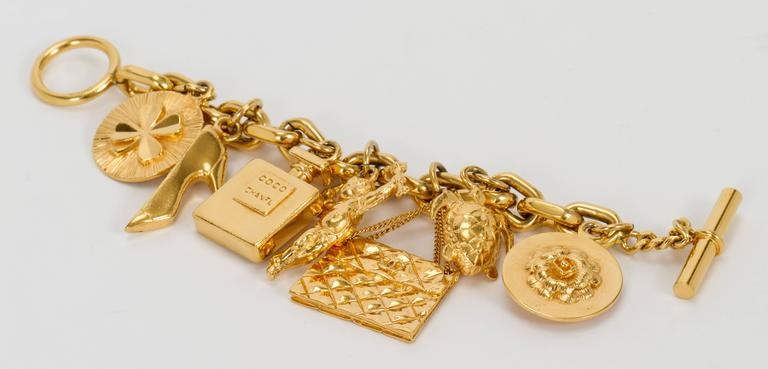 1970's Chanel Iconic Charm Bracelet 3