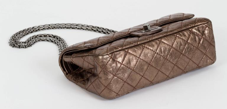 Chanel Bronze Double Flap w/ Charm For Sale 1