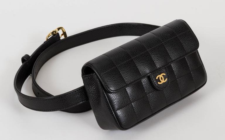 44557518 Chanel Black Caviar Quilted Fanny Belt Pack Bag