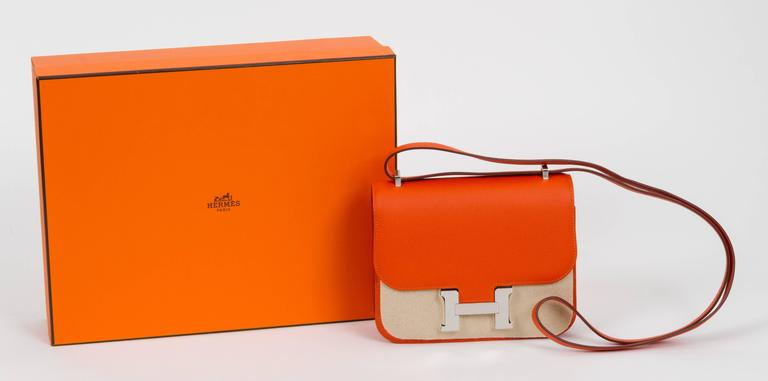Red New in Box Hermès Feu Epsom Constance  For Sale