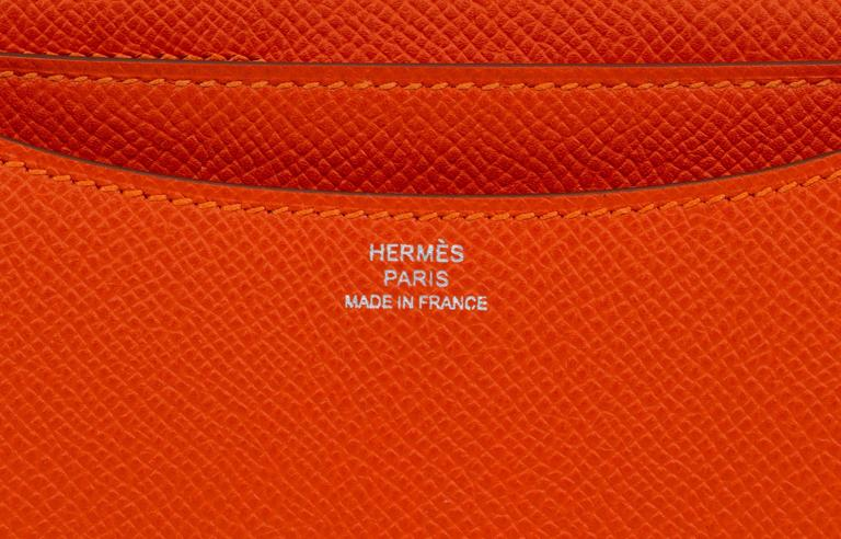New in Box Hermès Feu Epsom Constance  For Sale 3
