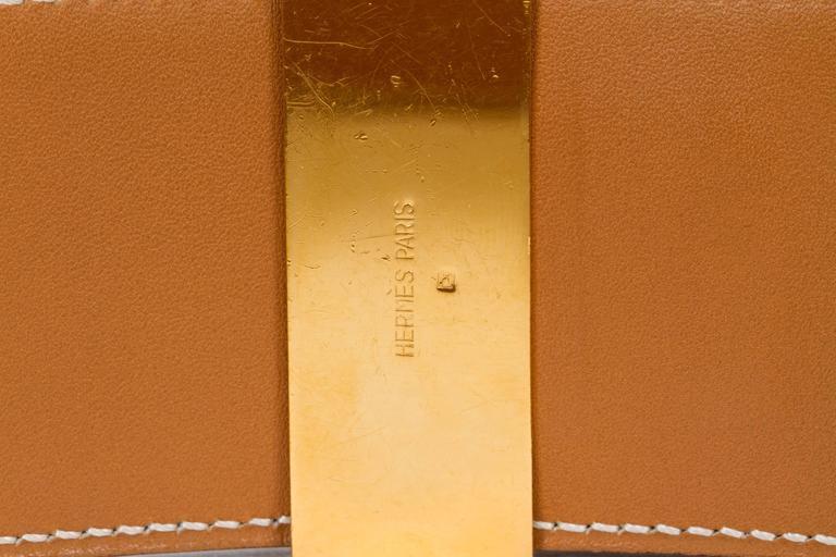 Hermès Collier De Chien 70cm Gold Belt In Good Condition For Sale In Los Angeles, CA