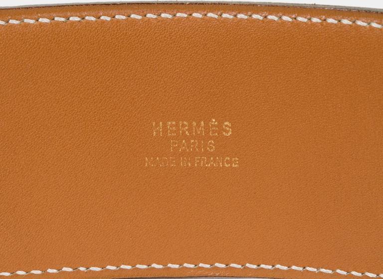 Women's Hermès Collier De Chien 70cm Gold Belt For Sale