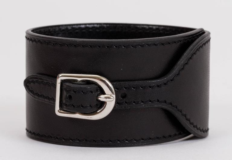 Women's Hermès Black Mors Cuff Bracelet For Sale