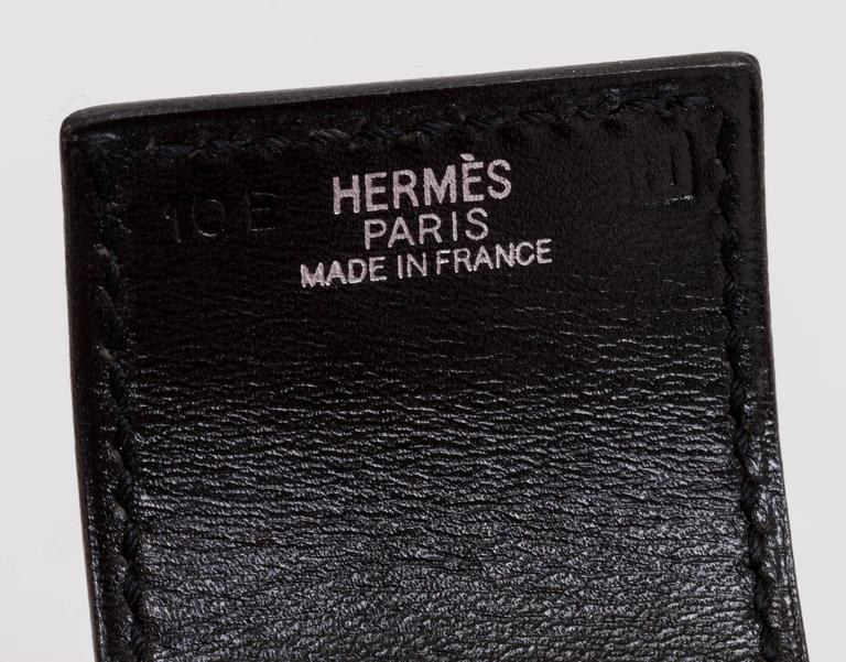 Hermès Black Mors Cuff Bracelet For Sale 1