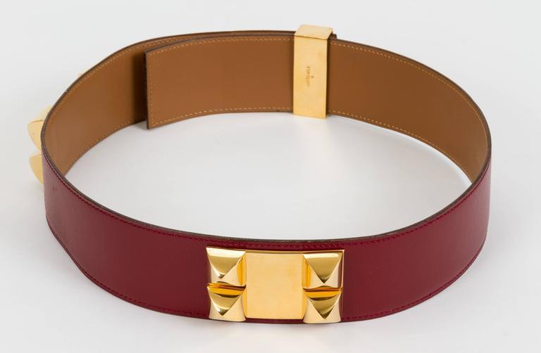 Hermès Collier de Chien Rouge H 70cm Belt 3