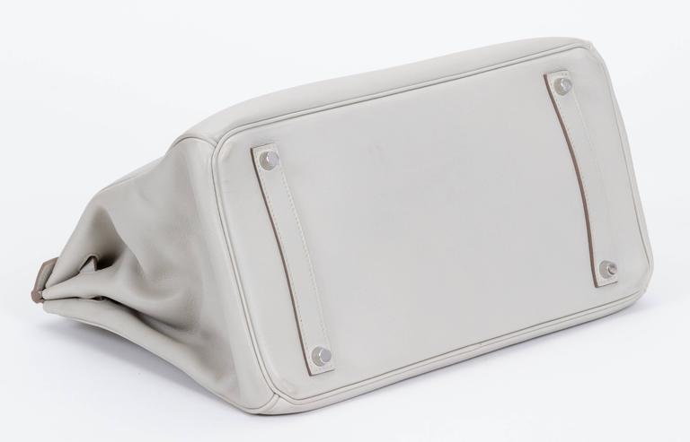 Hermès Birkin 35cm Gris Perle Swift Bag 4