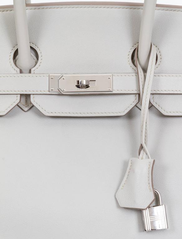 Women's Hermès Birkin 35cm Gris Perle Swift Bag For Sale