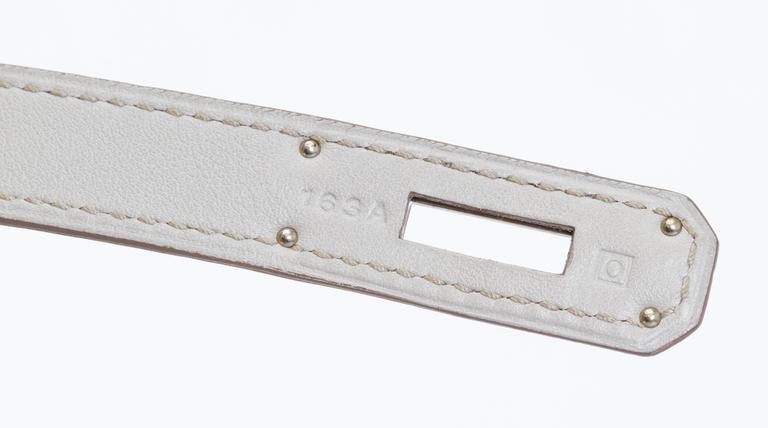 Hermès Birkin 35cm Gris Perle Swift Bag 6