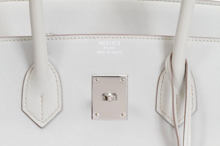 Hermès Birkin 35cm Gris Perle Swift Bag For Sale 2