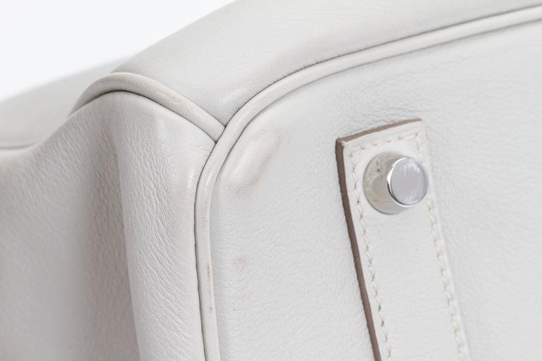 Hermès Birkin 35cm Gris Perle Swift Bag 8