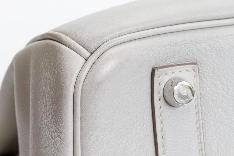 Hermès Birkin 35cm Gris Perle Swift Bag 9