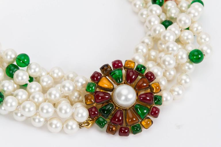 1970s Chanel Pearl & Gripoix Necklace 3