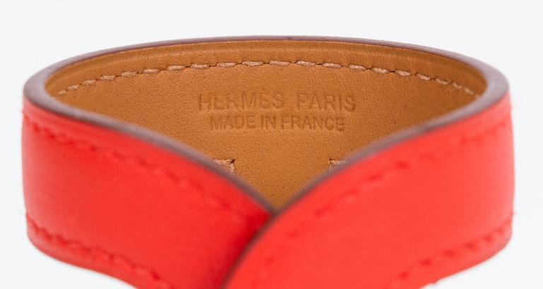 Hermès Capucine Stretch Leather Cuff Bracelet 6