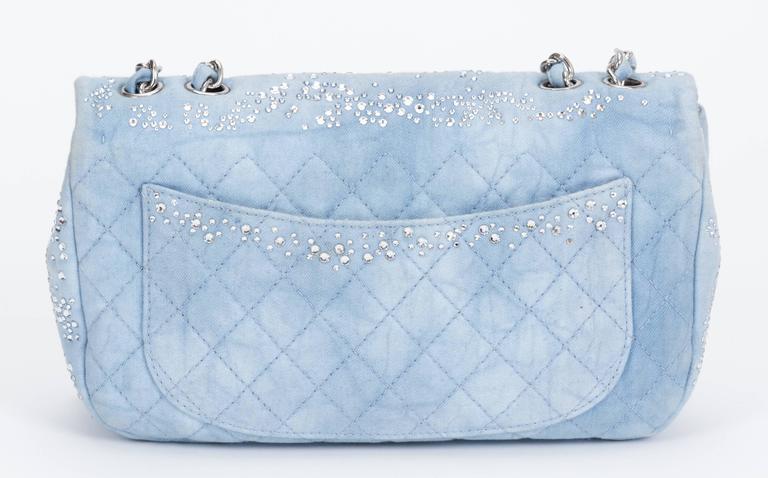 Chanel Rhinestone & Denim Flap Bag 3