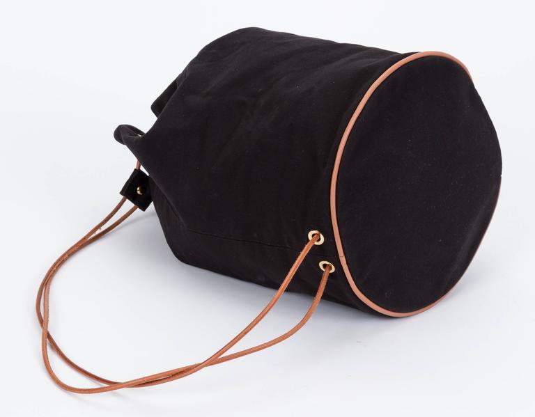 Women's Hermes Black Toile/Cuir Backpack For Sale