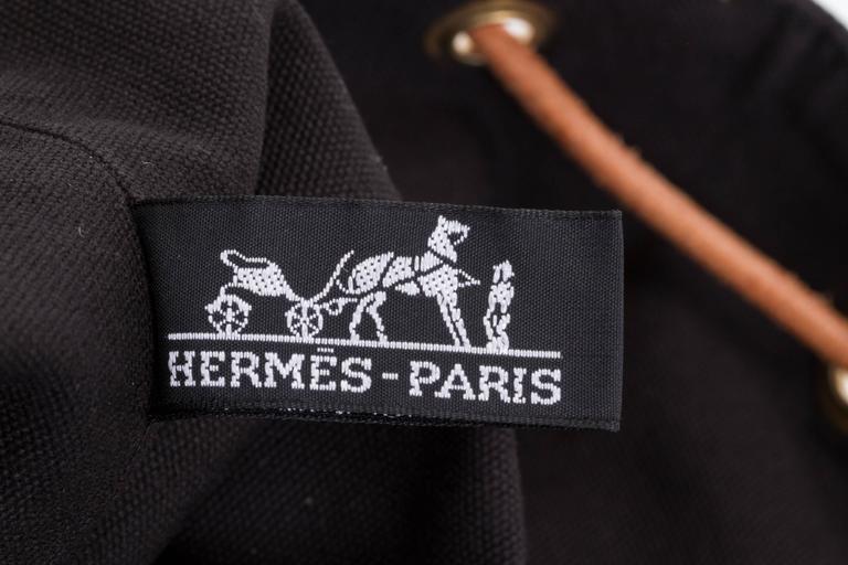 Hermes Black Toile/Cuir Backpack 6