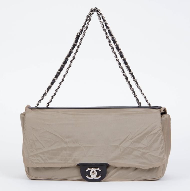Chanel Jumbo Black Rain Jacket Flap Bag For Sale 1
