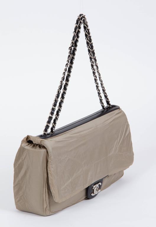 Chanel Jumbo Black Rain Jacket Flap Bag For Sale 2