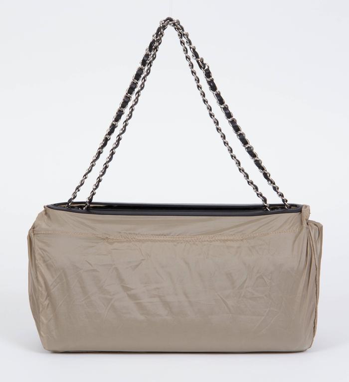 Chanel Jumbo Black Rain Jacket Flap Bag For Sale 3