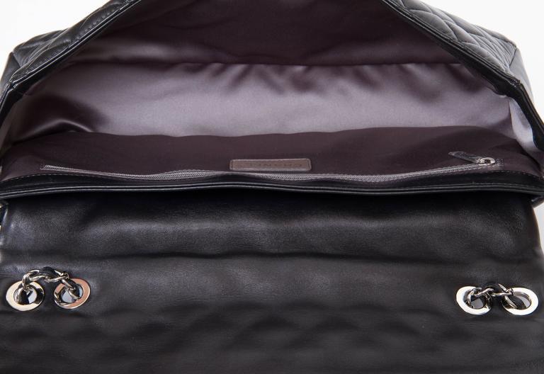 Chanel Jumbo Black Rain Jacket Flap Bag For Sale 5