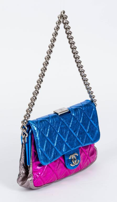 Chanel Metallic 4 Colors Limited Edition Flap Bag 2