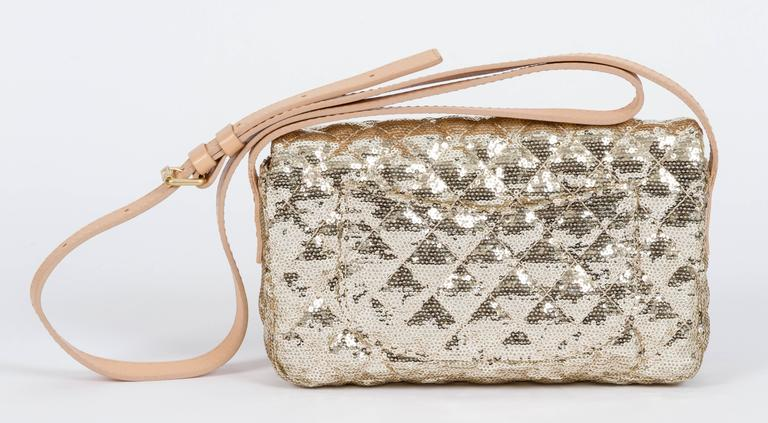 Chanel Gold Sequins Cross Body Bag 3