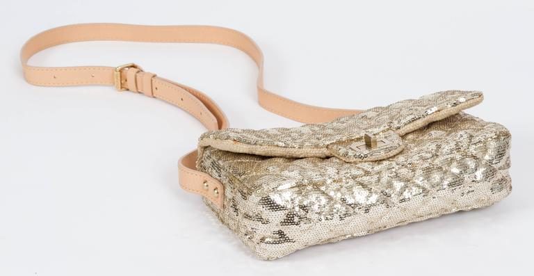 Chanel Gold Sequins Cross Body Bag 4