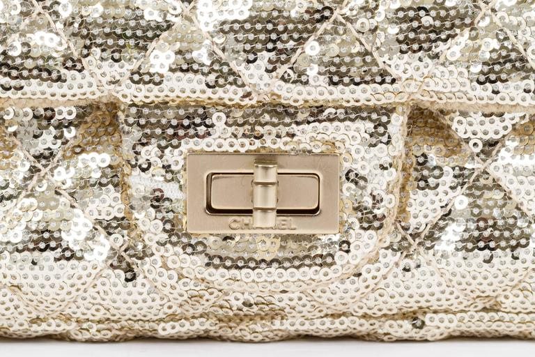 Chanel Gold Sequins Cross Body Bag 5
