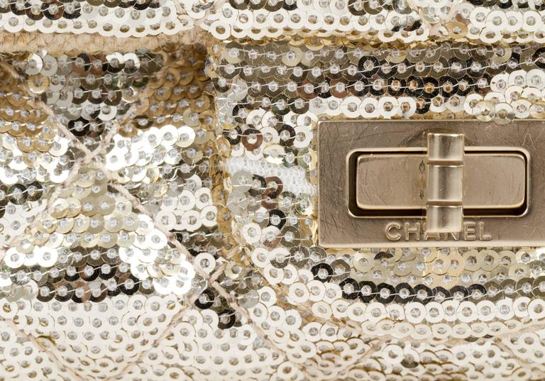 Chanel Gold Sequins Cross Body Bag 6