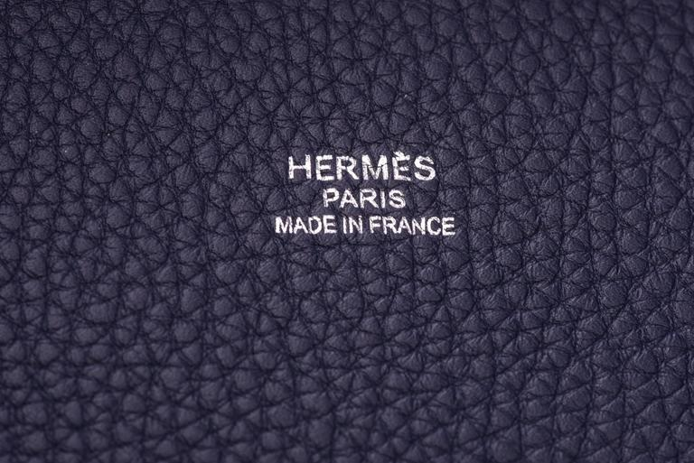 New in Box Hermes Limited Edition Indigo Blue Shark Bolide Bag 7
