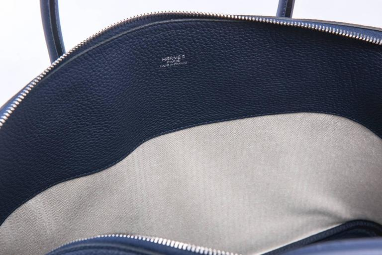 New in Box Hermes Limited Edition Indigo Blue Shark Bolide Bag 9