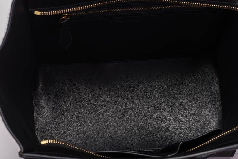 Celine Tricolor Pony Hair Mini Luggage Bag For Sale 2