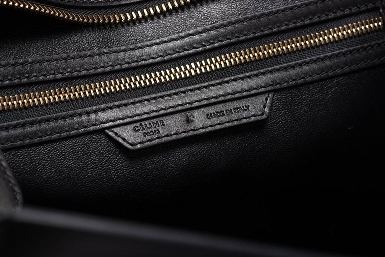 Celine Tricolor Pony Hair Mini Luggage Bag For Sale 5