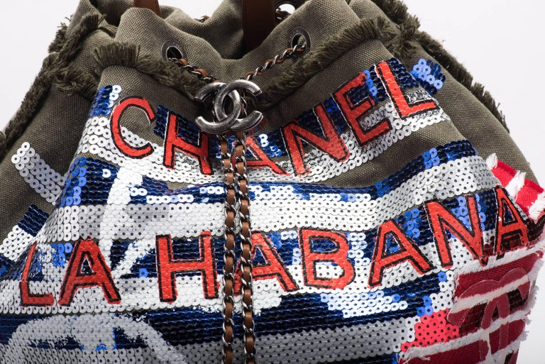 New in Box Chanel Coco Cuba Limited Edition Backpack Bag For Sale 2